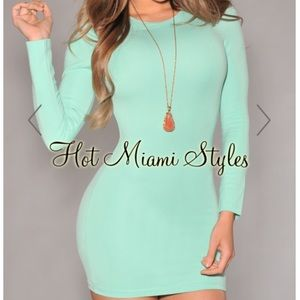 NWOT Mint Bodycon Dress Hot Miami Styles Medium
